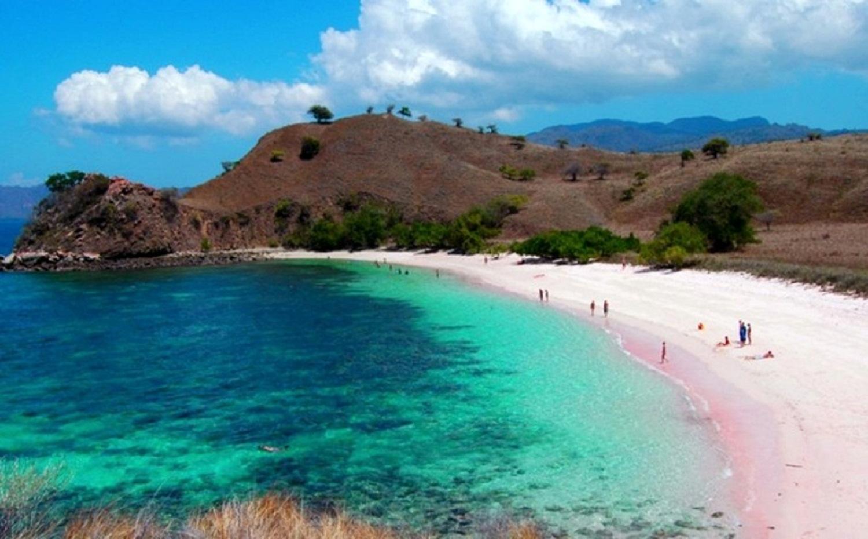 Pantai Pink di Pulau Komodo NTB