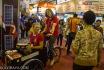 Peserta pameran dari Denmark melakukan promosi negaranya dengan menggunakan sepeda pada Pameran Destination Europe di Balai Kartini, Jakarta Selatan, Sabtu (18/10). Pameran wisata dan budaya Eropa pertama di Indonesia yang berlangsung hingga Minggu (19/10) itu menampilkan 24 negara, 70 eksibitor dan 50 pertunjukan dari negara anggota Uni Eropa. ANTARA FOTO/Vitalis Yogi Trisna/ed/mes/14