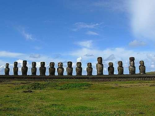 patung Moai pulau Paskah_2