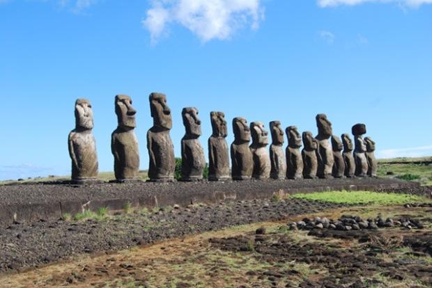 patung Moai pulau Paskah_3
