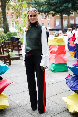 ONDON, ENGLAND - SEPTEMBER 18:  Olivia Palermo attends the Malone Soiliers presentation during London Fashion Week Spring/Summer collections 2017 on September 18, 2016 at Soho Square Gardens in London, United Kingdom.  (Photo by Tristan Fewings/Getty Images)